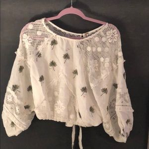 Never worn open back free people beachy top
